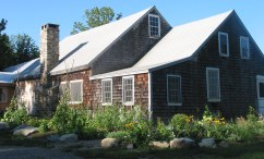 The lodge and flower & herb garden.